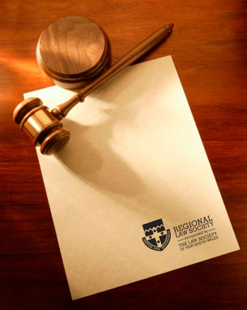 Image of gavel on Law Society of NSW letterhead